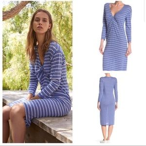 Velvet by Ashleigh Modal Knit Stripe Knot Dress S